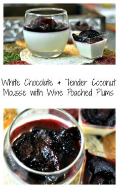 This no bake gelatine less White Chocolate & Tender Coconut Mousse with Wine Poached Plums is the perfect dessert to put when you want something fancy yet simple. Takes 30 minutes to put it together and is my goto recipe for impressing people.