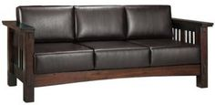 leather arts and crafts sofa