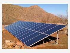 Installed ground mounted Solar Panels - Home and Garden Design Idea's