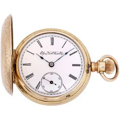 Pre-Owned Vintage Elgin Pocket Watch Gold Filled 18 size Grade 102... ($1,400) ❤ liked on Polyvore featuring jewelry, watches, accessories, fillers, no color, vintage pocket watch, engraved pocket watch, vintage wrist watch, roman numeral pocket watch and white dial watches