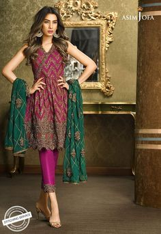 Pakistani Fancy Dresses Asim Jofa Mysorie Chiffon Collection consists of women best embroidered luxury suits, perfect for eid, weddings, parties, Pakistani Party Wear Dresses, Pakistani Wedding Outfits, Pakistani Bridal Dresses, Pakistani Dress Design, Wedding Dresses, Dress Indian Style, Indian Dresses, Indian Outfits, Western Outfits