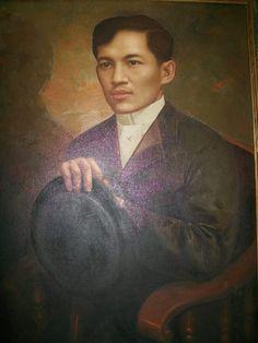 Rizal Painting English Dept UP Diliman RB Enriquez a (xiao) University Of Santo Tomas, Jose Rizal, Filipino Fashion, Filipino Art, Noli Me Tangere, Filipiniana, English, Historical Pictures, History Facts