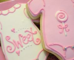 Girl Onesie Cookies   Made these pink cuties for a baby shower! So girly and pretty! I just ...