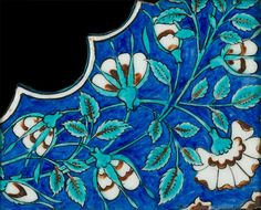 An Iznik pottery Spandrel Tile Fragment Turkey, second half of 16th Century