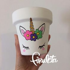 Picture result for hand-painted pots with an exclusive design Flower Pot Art, Flower Pot Design, Flower Pot Crafts, Clay Pot Crafts, Diy And Crafts, Crafts For Kids, Painted Plant Pots, Painted Flower Pots, Pots D'argile