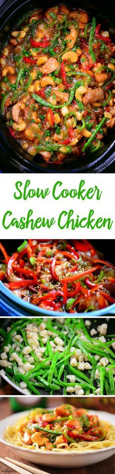 Slow Cooker Cashew Chicken is full of flavor and so easy to prepare! Skip the Chinese takeout and make this dinner recipe at home instead.