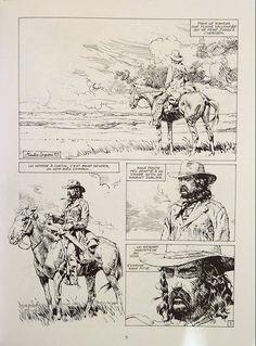 Extrait de La règle du jeu Westerns, Serpieri, Jean Giraud, Morris, Cowboy Art, Le Far West, Comic Page, Old West, Fantasy Artwork