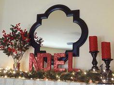 glitter NOEL letters