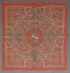Hermès Tuch, Seidenchiffon, ca. 42 x 42 cm