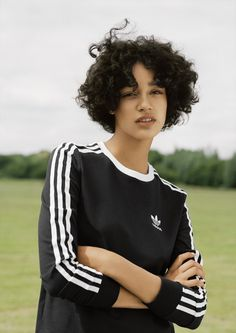 Play around in three-stripe jersey: pared-back colour ways and co-ordinating separates are key to effortless styling. #Topshop