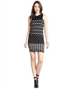 M Missoni black and white patterned cotton blend sleeveless dress on WearsPress