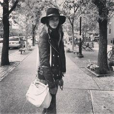 #AlessandraAmbrosio in #ANINEBING #Leatherjacket