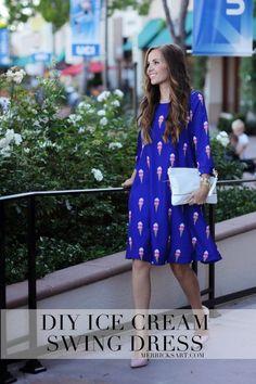 Merrick's Art | Ice Cream Swing Dress Sewing Tutorial