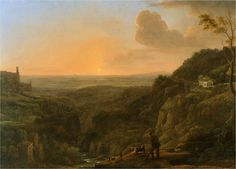 Claude Lorrain Paintings | view of the Roman Campagna from Tivoli