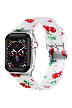 Apple Watch 1, Apple Watch Series 1, Apple Watch Bands, Apple Watch Silicone Band, Apple Watch Wristbands, Cherry Apple, Apple Band, Cute Watches, Apple Watch Accessories