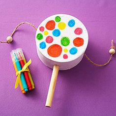 Idea for craft and/or party favor for Music Themed Birthday Party