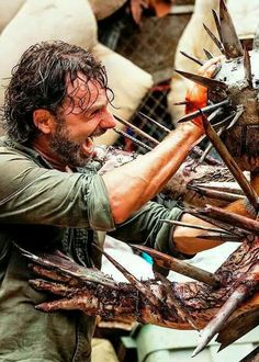 """The Walking Dead - 07x10 """"New Best Friends"""" Rick Grimes & Winslow"""