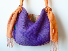 reversible vintage sari bag / ethnic tote. $45.00, via Etsy.