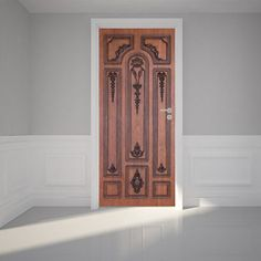 """""""Door Wall Sticker Brown Wooden Door Self Adhesive Peel Stick Repositionable Fabric Mural 31w x 79h 80 x 200cm ** Check this awesome product by going to the link at the image."""""""