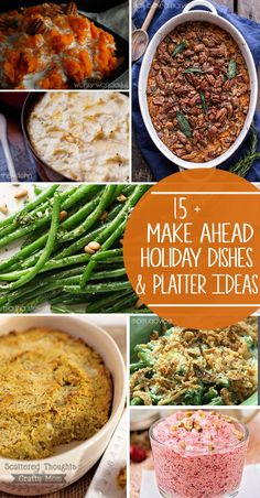 15 Make Ahead Holiday Dishes and Recipes to help your Holiday Meal be Stress Free!  #partylikeapro #samsclub ad