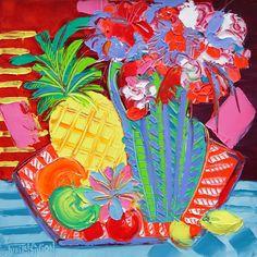 Tutti frutti - 50 x 50 cm - Huile sur toile