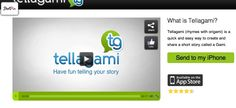 Tellegami is a quick and easy way to create and share a short story called a Gami.  iphone app.