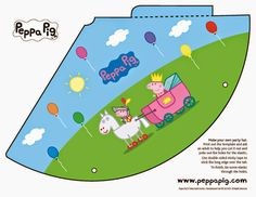 6 Best Images of Peppa Pig Party Free Printables - Free Printable Peppa Pig Party Hat, Peppa Pig Party Printables Free and Peppa Pig Birthday Party Free Printables Peppa Pig Printables, Party Printables, Free Printables, Cumple Peppa Pig, Pig Birthday Cakes, Birthday Parties, George Pig, Fun Party Games, Party Time