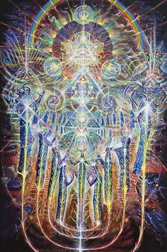 Visionary Art Print featuring the painting House Of Many Mansions by Kuba Ambrose