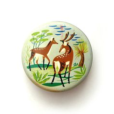 Vintage deer toffee tin by Sharp and Sons