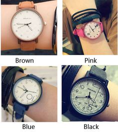 Cheap Fashion Unique Personality Dial Leather Women Wrist watch For Big Sale! Cheap Fashion, Unique Fashion, Fashion Watches, Brown, Personality, Pink, Leather, Accessories, Black