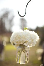 I love the hanging flowers!