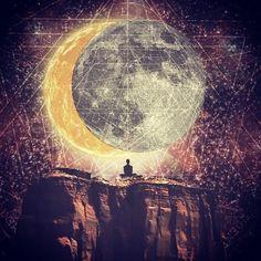 Sun moon meditation art