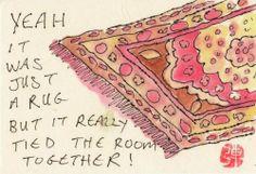 The Big Lebowski Quote Illustration