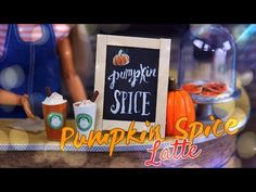 by request: Its season! Thats right, even the Dolliverse isn't safe lol! Get crafty with Froggy as she makes Doll Pumpkin Spice Lattes with . Miniature Crafts, Miniature Food, Miniature Tutorials, Barbie Food, Barbie Stuff, Doll Stuff, Pumpkin Cookies, Sugar Cookies, Diy Doll Food