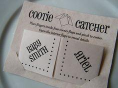 Cootie Catchers Origami Baby Shower Invitations / by katskrafts
