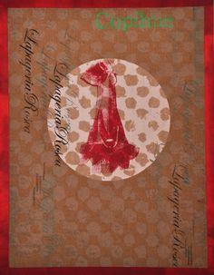 Nieves Mac-Auliffe - Copihue I - Serigrafía sobre papel reciclado
