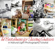Choose the best lens for natural light photography indoors. Free tutorial on @iHeartFaces
