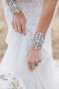 Stunning Bridal Cuff's - an unusual but striking jewellery option for your wedding day.
