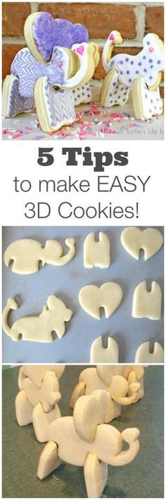 5 Easy Tips for Making 3D Cookies by A Turtle's Life for Me