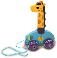 Vilac Wooden Giraffe Pull Along Toy - Leonie by Melusine