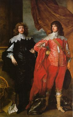 """George, Lord Digby und William, Lord Russell"" (1637) by Anthony van Dyck"