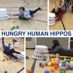 HUNGRY HUMAN HIPPOS Get some carpet dollies or champion scooter boards with handles and make this happen. You can use bungies or ropes to pull them back after they have collected as many balloons as possible. Kids will never forget this. Idea from Thomas Mark Olsen via Facebook. View original post on our @YouthMinistryIdeas Instagram account Other …