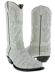 ce08a0782dd4 Women s ladies crocodile alligator big tail leather cowboy boots western  rodeo