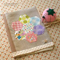 note book covered with pretty fabrics