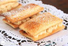 Milhojas de turrón/ con receta.