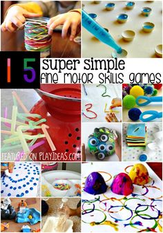 15 super simple fine motor skills games