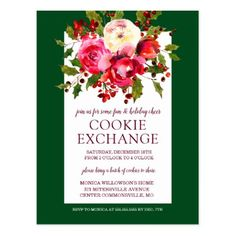 Merry Christmas | Christmas Cookie Exchange Postcard - merry christmas postcards postal family xmas card holidays diy personalize