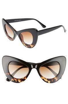 bac1ba0a0b La Double 7 55Mm Exaggerated Cat Eye Sunglasses -