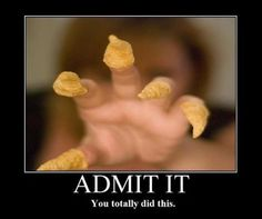 Bugles on my fingers -- I SO did this!!!!