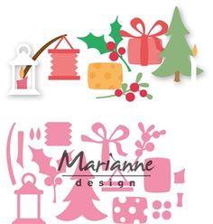 Marianne Design Eline`s Kerstversiering Never Ending Card, Diy And Crafts, Paper Crafts, Felt Crafts, Christmas Templates, Marianne Design, Electronic Gifts, Big Shot, Xmas Cards